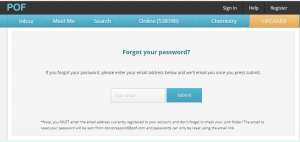 POF Password Recovery, Pof password change