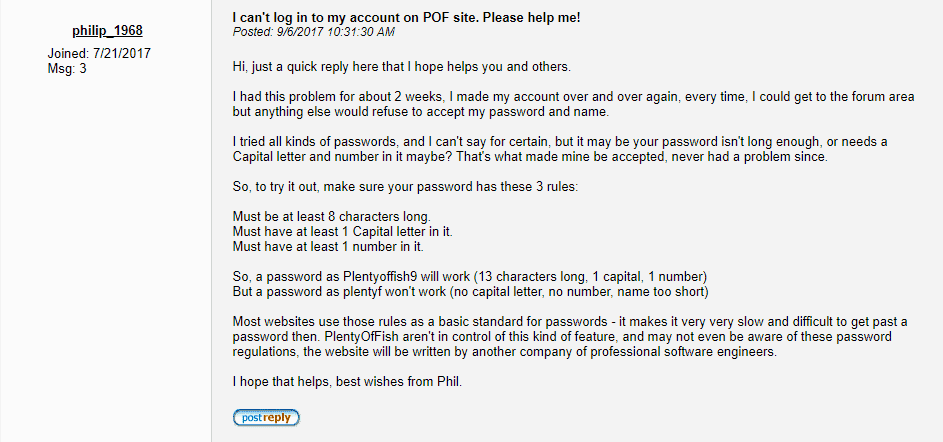 What to do if I can't log in to my POF (PlentyOfFish) account